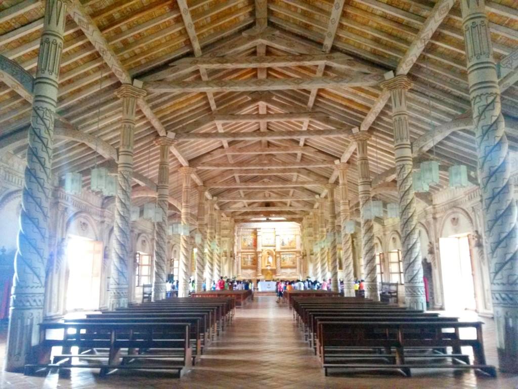 El interior de la iglesia de San Francisco de Javier