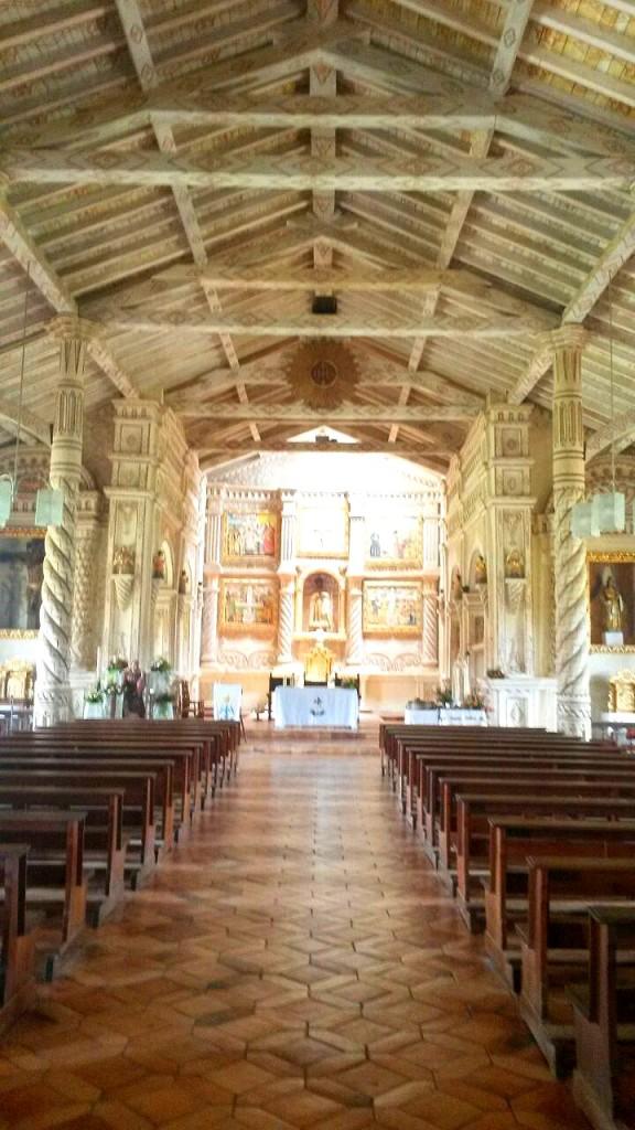 El interior de esta iglesia también tenía una pulcritud admirable.